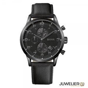 Hugo-Boss-Black-Men-039-s-Watch-Aeroliner-Mens-CHRONO-1512567