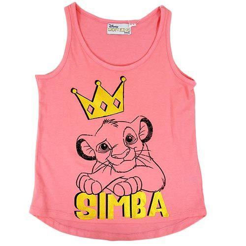 10 12 DISNEY THE LION KING SIMBA GIRLS TANK TOP SINGLET BRAND NEW SIZE 8 14