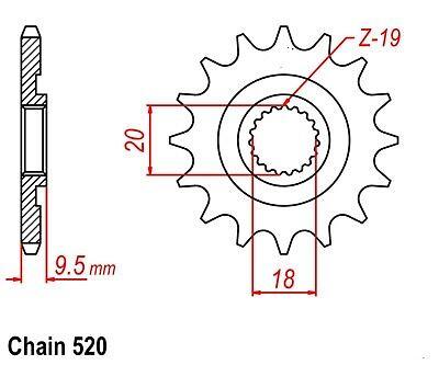 HONDA CR125R CR 125 R SPROCKET 13//51 /& HD CHAIN SET 2002 BLK