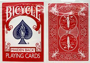 1-NEW-SEALED-DECK-Bicycle-Maiden-Back-MARKED-red-reader-playing-cards