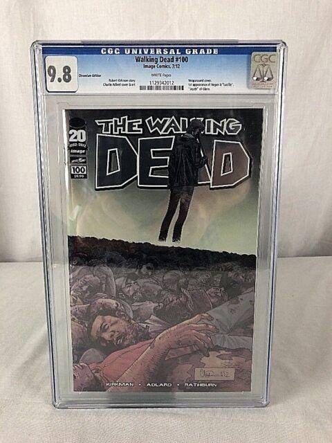 The Walking Dead #100 Chromium Variant Cover 2012 Image Comic CGC 9.8 1st Negan