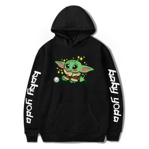 Men Women Mandalorian Baby Yoda Printed Hoodie Casual Sweatshirt Pullover New