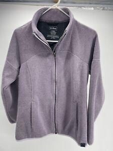 Women-s-LL-Bean-Full-Zip-Lavender-Fleece-Jacket-Sweater-Misses-Size-S-Reg-EUC