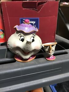 Disney-Traditions-Jim-Shore-Beauty-And-The-Beast-Mrs-Potts-amp-Chip-Figurine