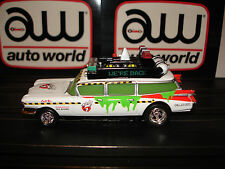 AUTO WORLD ~ Ghostbusters ECTO 1A ~ NEW IN JEWEL CASE ~ Also Fits AFX, AW