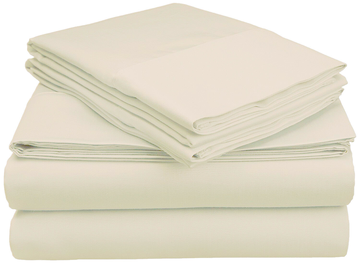 Superior Egyptian Cotton 800 Thread Count Solid Sheet Set Queen Ivory