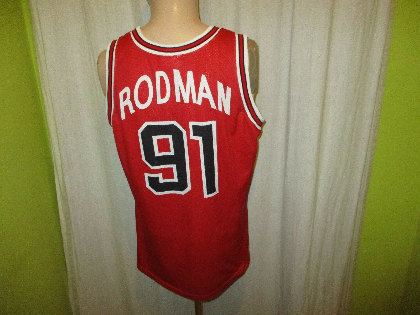 Chicago Bulls Original Champion NBA Authentic Trikot + Nr.91 Rodman Gr.M