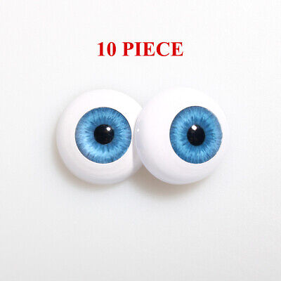 18mm FLAT BACK Glass Eyes REBORN//OOAK Baby DOLLS~Reborn Supplies~NEWBORN BLUE