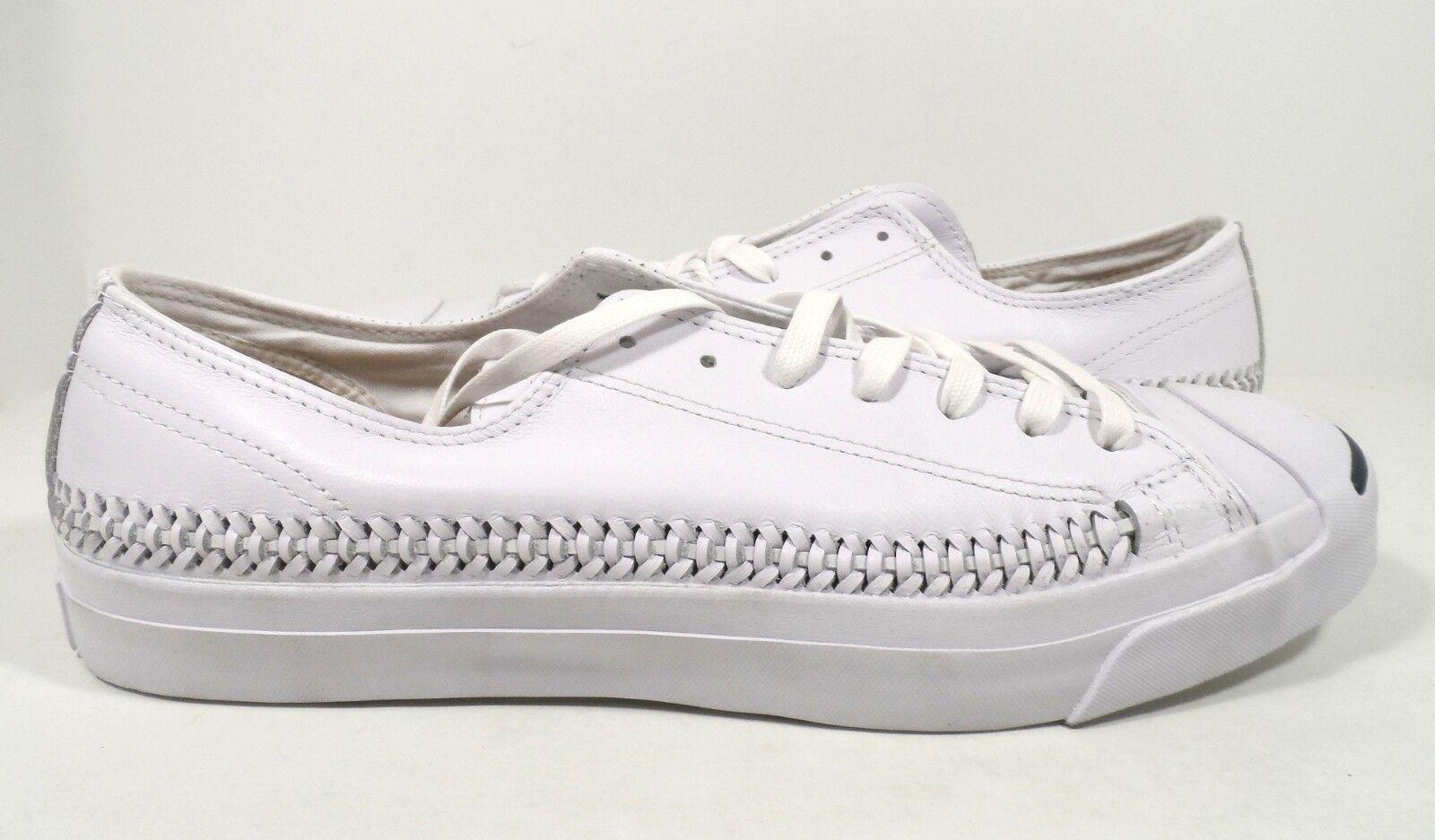 Zapatos  de cuero Purcell Converse Para Hombre Jack Purcell cuero Jack Woven Ox blanco tamaño 13 b20f83