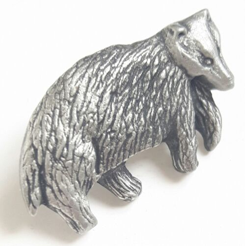 Gift Bag Badger Handcrafted From English Pewter Lapel Pin Badge