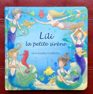 Details Sur Livre Puzzle A Paillettes Lili La Petite Sirene Activite Pour Fille De 3 A 6 Ans