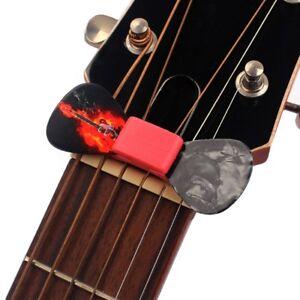 5 x rubber guitar pick holder fix on headstock for bass ukulele parts black red ebay. Black Bedroom Furniture Sets. Home Design Ideas