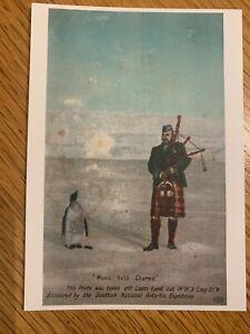 Replica Vintage Postcard - Scottish National Antarctic Exped. - Piper & Penguin