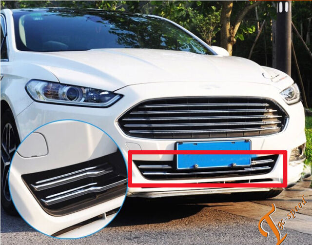 Chrome Front Grille Cover Trim for 2013 2014 2015 2016  Ford Fusion