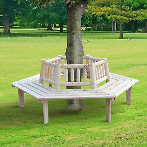 Wrap Bench outsunny 6 seat garden tree wrap bench fir garden backyard park