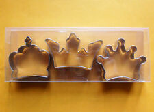 """3"""" Crown (King Queen) special party biscuit baking cookie cutter set (3pcs)"""