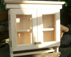 Glazed wooden bathroom kitchen wall cabinet solid pine - Unfinished wood bathroom wall cabinets ...