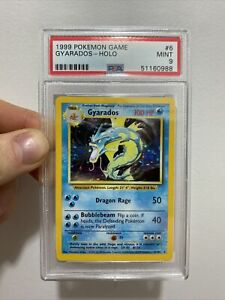 1999 Gyarados PSA 9 Base Set Pokemon Card 6/102 Holo Rare MINT