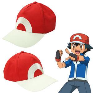 Pieza Pokemon Ash Ketchum Gorro Gorra de béisbol roja sol cosplay ... edea4ffcf1b3