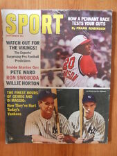 SPORT Magazine US - September 1965 -Lou Gehrig and Joe Di Maggio  [D24]