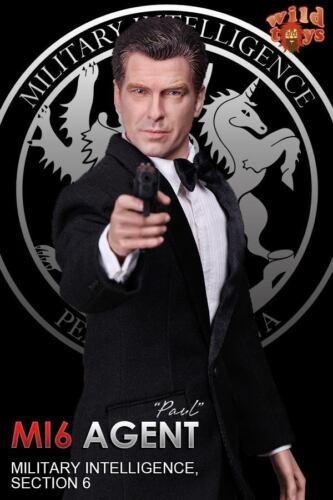 Dragão Em DREAMS 1//6 British Paul DID agente MI6 seção de inteligência Militar 6