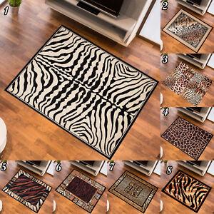 Détails sur Tapis Kurzflor Afrique Fourrure Motif Designer tapis en Noir  Crème Marron- afficher le titre d\'origine