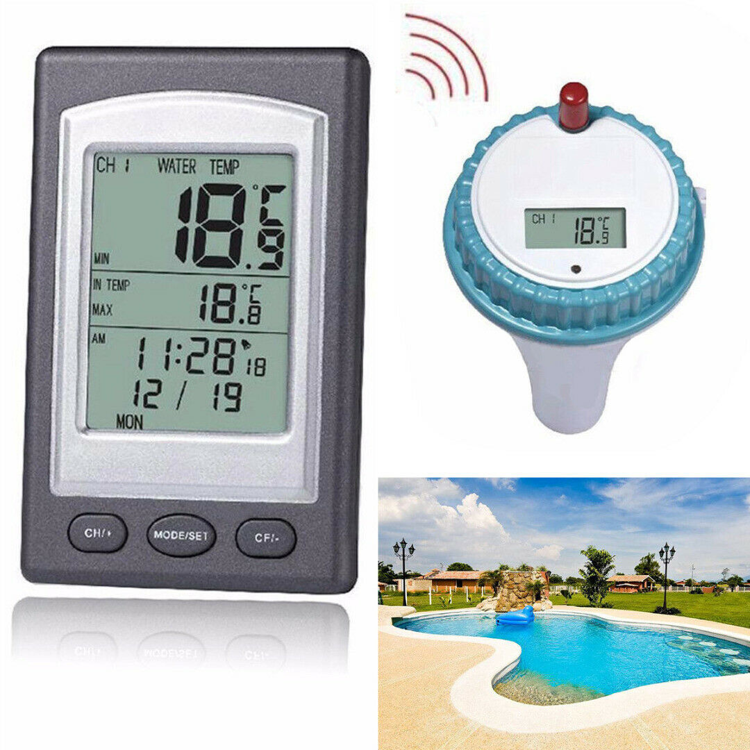 Wireless Floating Thermometer Swimming Pool Pond Spa Water Temperature Kit BU