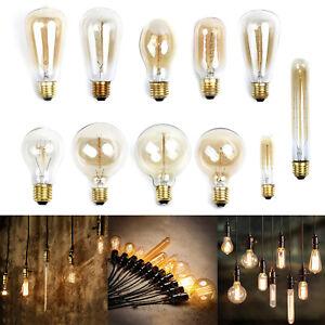 4 X E27 Filament Vintage Style Antique Edison écureuil cage ampoules 40 W ST64