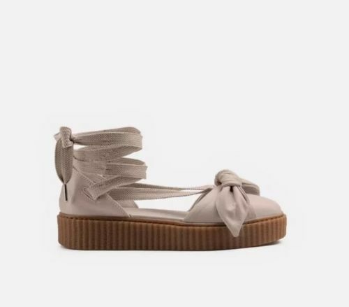 Puma x Fenty Fenty Fenty By Rihanna Women Size 39 US 8.5 Bow Creeper Sandal Natural NEW 129ba6