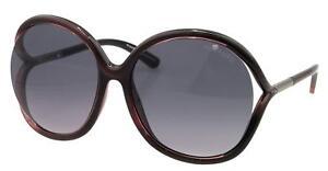 Tom Ford RHI Sunglasses Plum Gradient Smoke Lens FT0252 05B 59-16 125