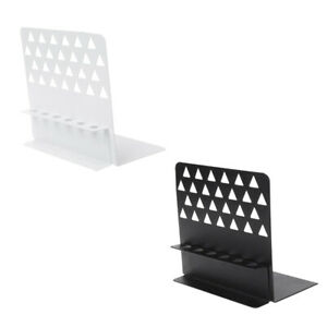Creative-Metal-Bookends-with-Pen-Holder-Desk-Organizer-Stand-Office-Home-Decor