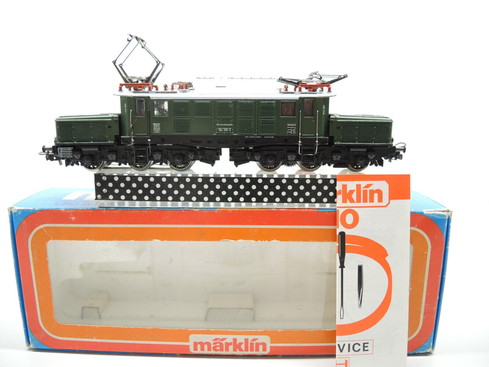 Märklin 3022 E-Lok, br 194 091-5 delle DB molto ben conservato    Manuale di servizio OVP (8)