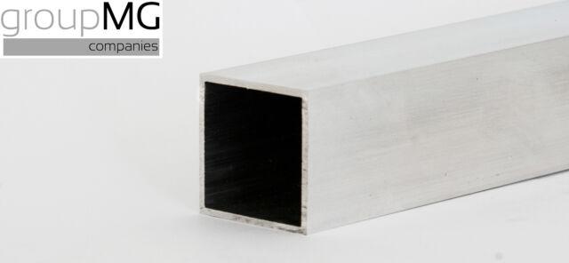 Aluminium Quadratrohr - Aluminium Vierkantrohr 2500 mm bis 4000 mm Längen