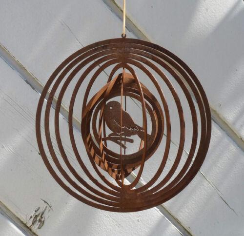 Windspiel Spirale 3D Herz Sonne Schmetterling Vogel Pferd aus Metall Edelrost