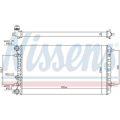 Motorkühlung NISSENS 65228 passend für VW 1 Kühler