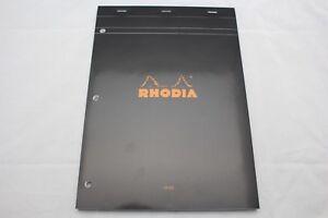 Rhodia-Staplebound-Notebook-8-1-4-x-11-3-4-Lined-with-Margin-3-Hole-Black