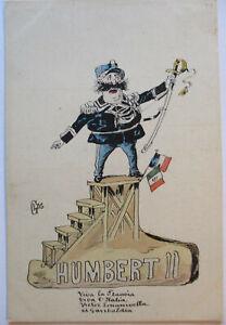 Italy-King-Humbert-II-Political-Caricature-ca-1900