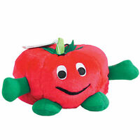 Zanies - Giggling Veggies - Plush Dog Puppy Toy - Tomato - 7