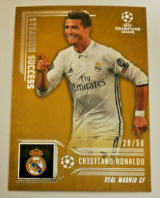 Topps Ligue des Champions Showcase 16//17 steadied Success ronaldo cr7 Real Madrid