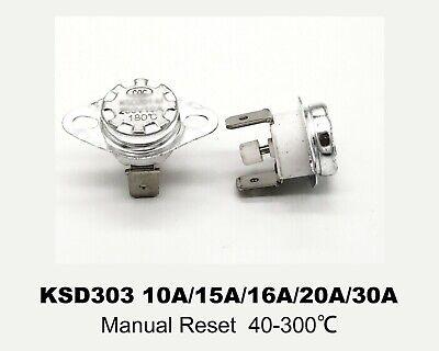 KSD301//302 Ceramic Temperature Switch NC//NO  250V 10A 15A 16A Thermostat  0~300℃