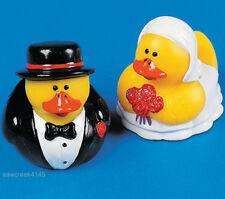 SET OF 2~~BRIDE/GROOM RUBBER DUCKS/DUCKIES/~FAVOR~gift~decorations