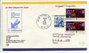 Ffc 1975 Lufthansa Primo Volo Lh 492 Dc-10 - Francoforte New York Lima Santiago Effet éVident