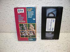 Lite Beer Super Bowl Insider VHS Video Out of Print NFL