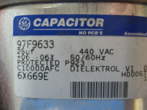 New GE 97F9633 Motor Run Capacitor