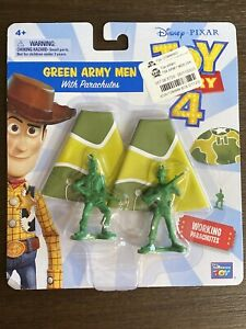 NEW DISNEY PIXAR Toy Story 4 Movie Green Army Men With Working Parachutes New 2