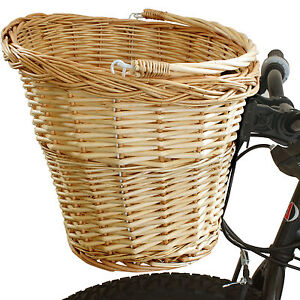 SALE-QUICK-RELEASE-BICYCLE-FRONT-WICKER-SHOPPING-BASKET-BIKE-CYCLE-SMALL-DEFECTS