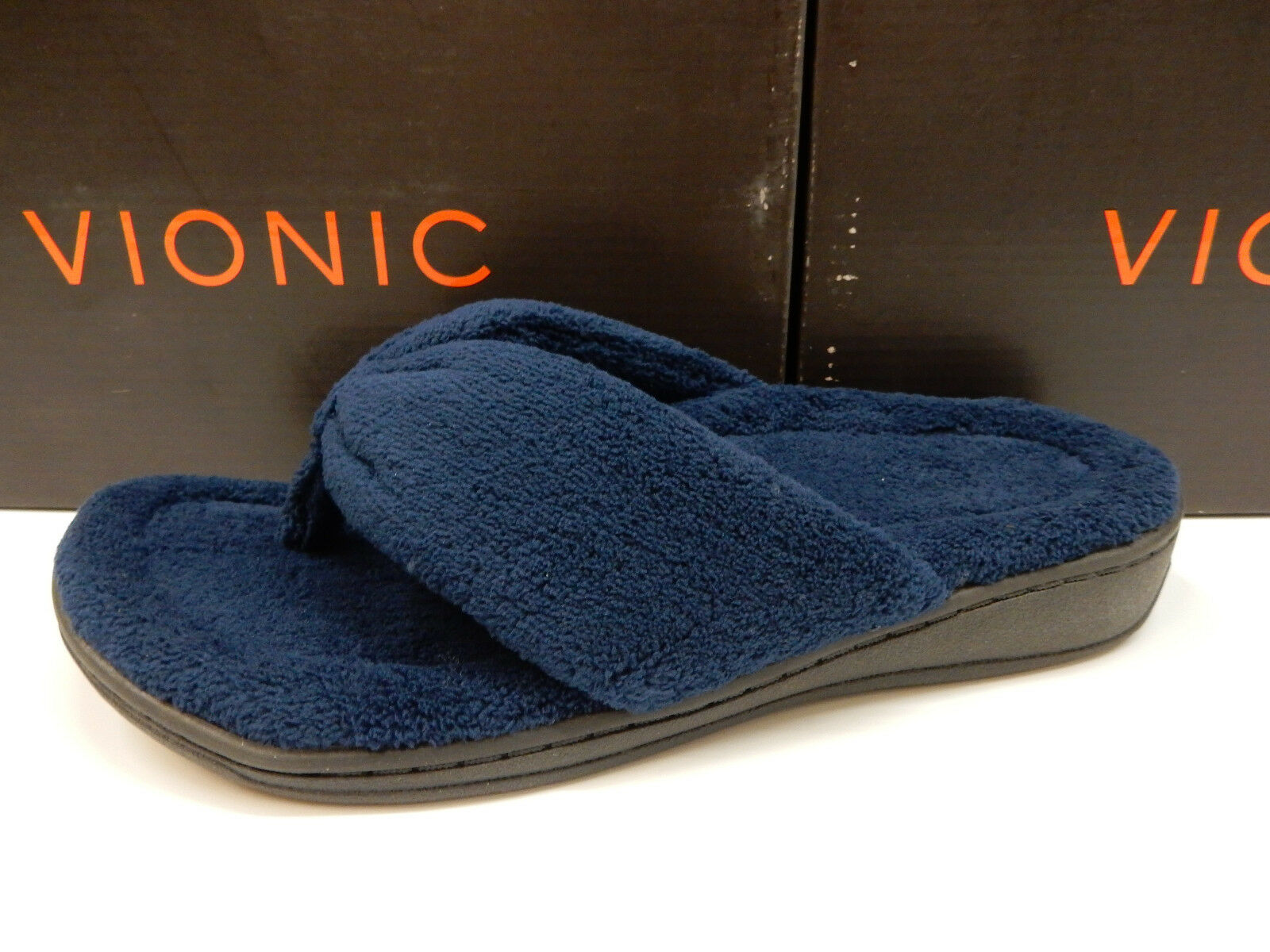 VIONIC Damenschuhe SLIPPERS GRACIE TOE POST SLIPPER NAVY SIZE 10