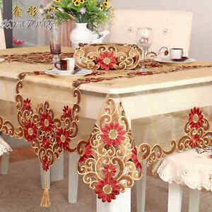 Image Is Loading HBZ351 Fabric Red Lace Illustration Tablecloth Table Cloth
