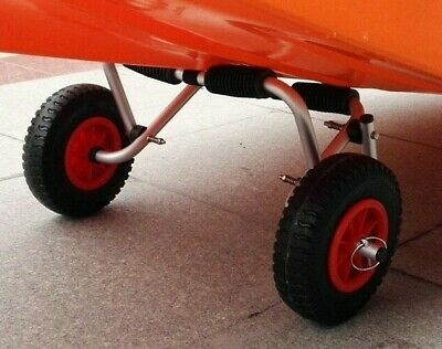 2 Pcs Tire Wheel Transport Canoe Trolley Trailer Dolly Boat Carrier Wheels Tote