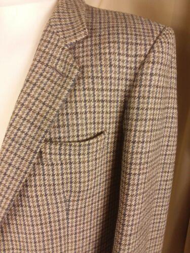 anni Dunn Giacca For Norfolk Marrone '80 Lana Blu Co Grigio Crombie Controllare Vintage C40r aWdpRqa